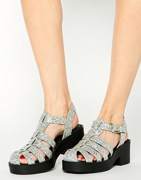 Asos glitter sandals