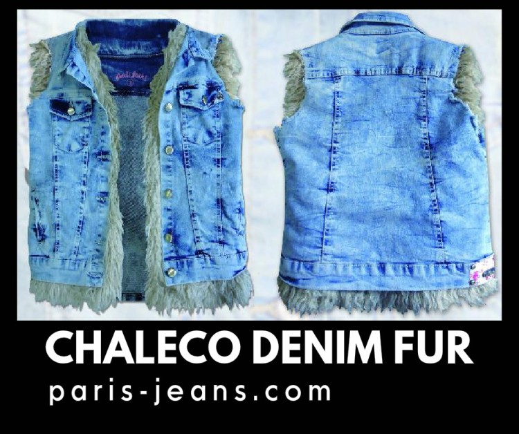 Chaleco denim fur