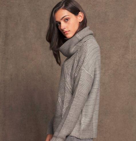 Jersey cuello alto tricot - PUNTO - WOMAN _ Stradivarius