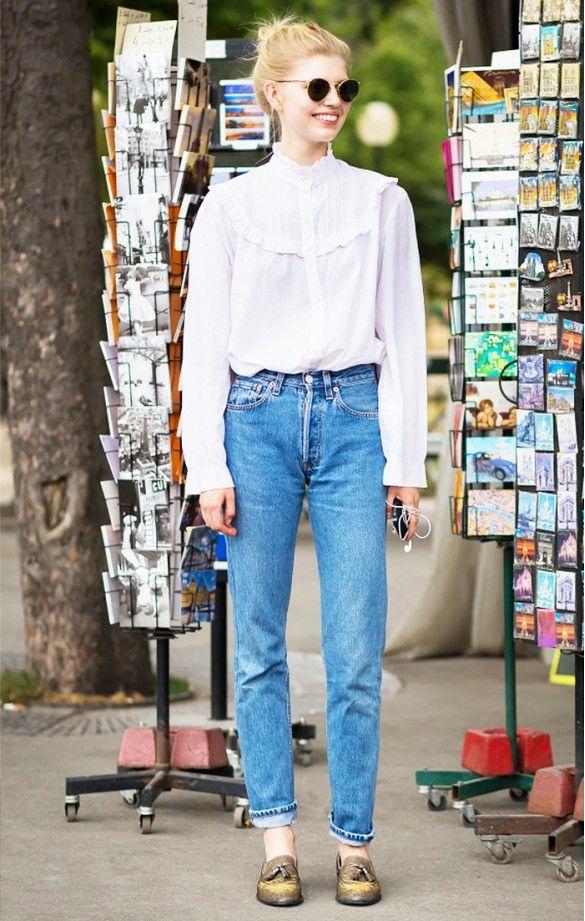 street style-blusa victoriana-blusa romántica-fashion-moda-tendencias otoño 2015-front row blog