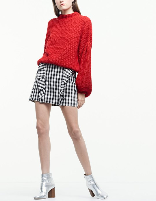 oversized_sweater_stradivarius_skirt