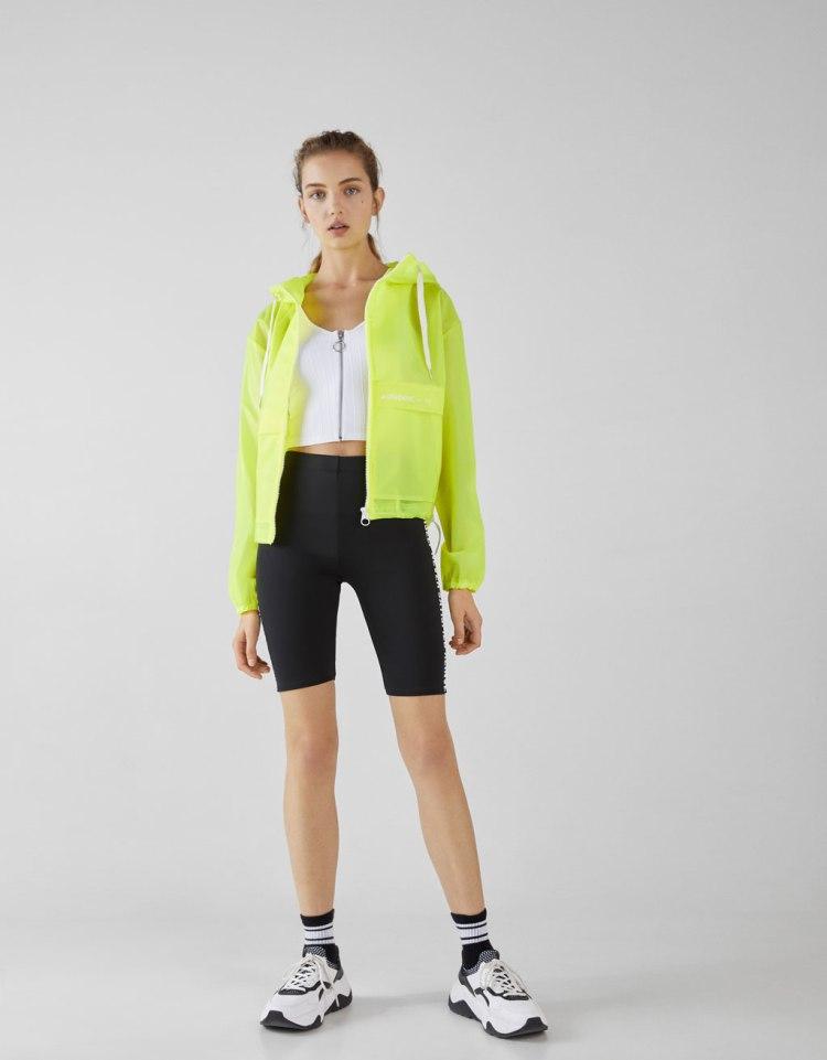 bershka biker shorts