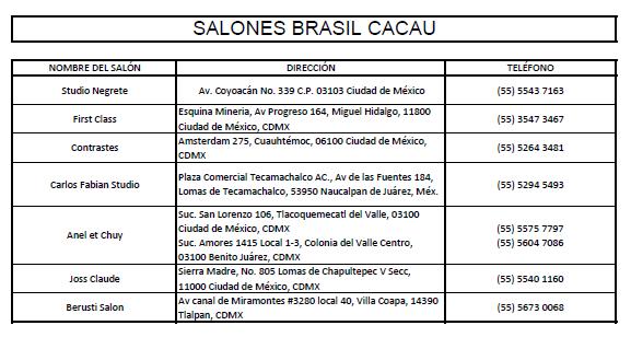Brasil Cacau Salones